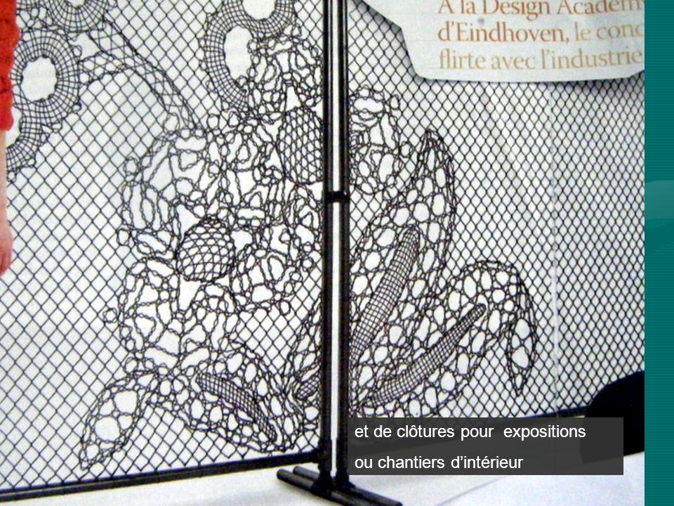 et de clôtures pour expositions ou chantiers dintérieur
