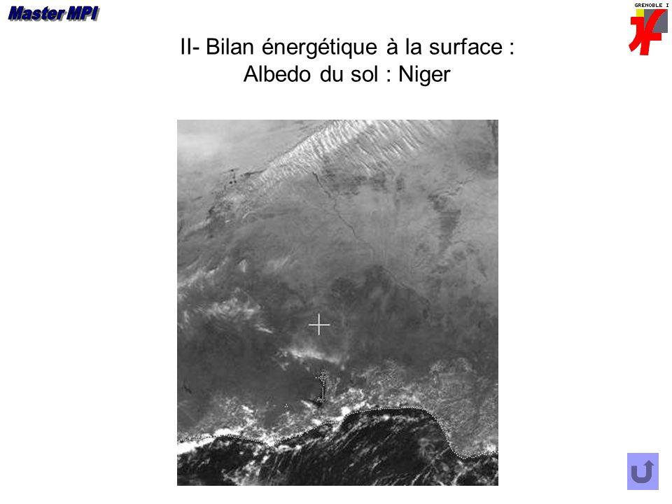 II- Bilan énergétique à la surface : Albedo du sol : Niger