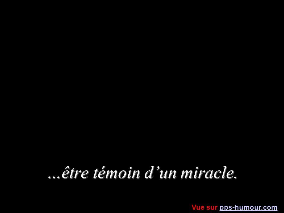 …être témoin dun miracle. Vue sur pps-humour.compps-humour.com