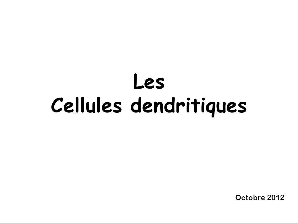 Les Cellules dendritiques Octobre 2012