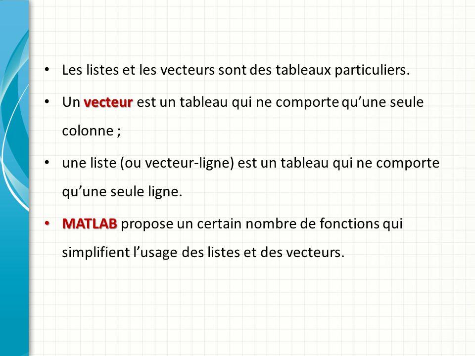 1.Construction de listes : On peut définir la valeur dune liste en donnant la suite de ses éléments séparés par des espaces (ou des virgules), la liste étant délimitée par des crochets.