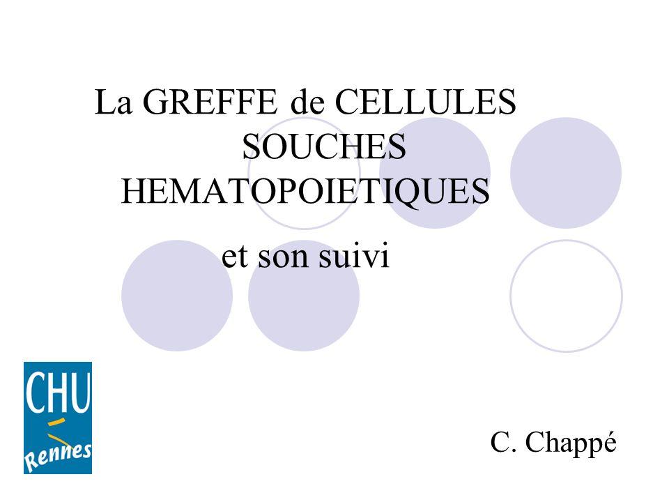 La GREFFE de CELLULES SOUCHES HEMATOPOIETIQUES et son suivi C. Chappé