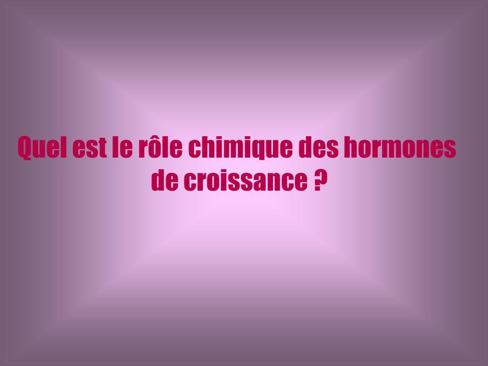 Quel est le rôle chimique des hormones de croissance ?