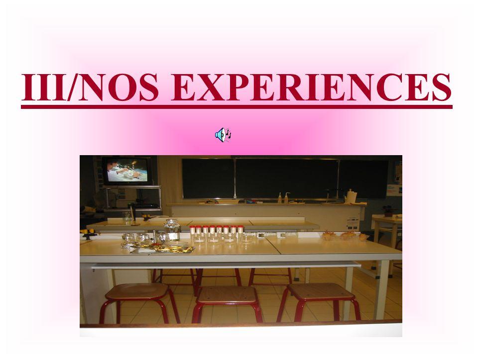 III/NOS EXPERIENCES
