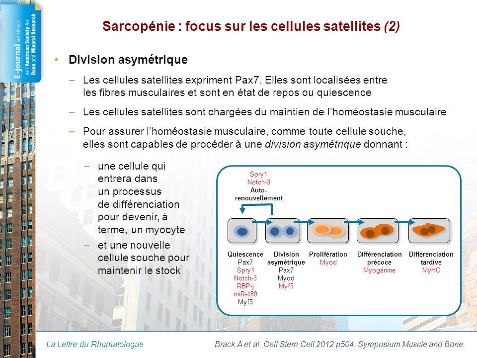 La Lettre du Rhumatologue Shea K al.Cell Stem Cell 2010 p117.