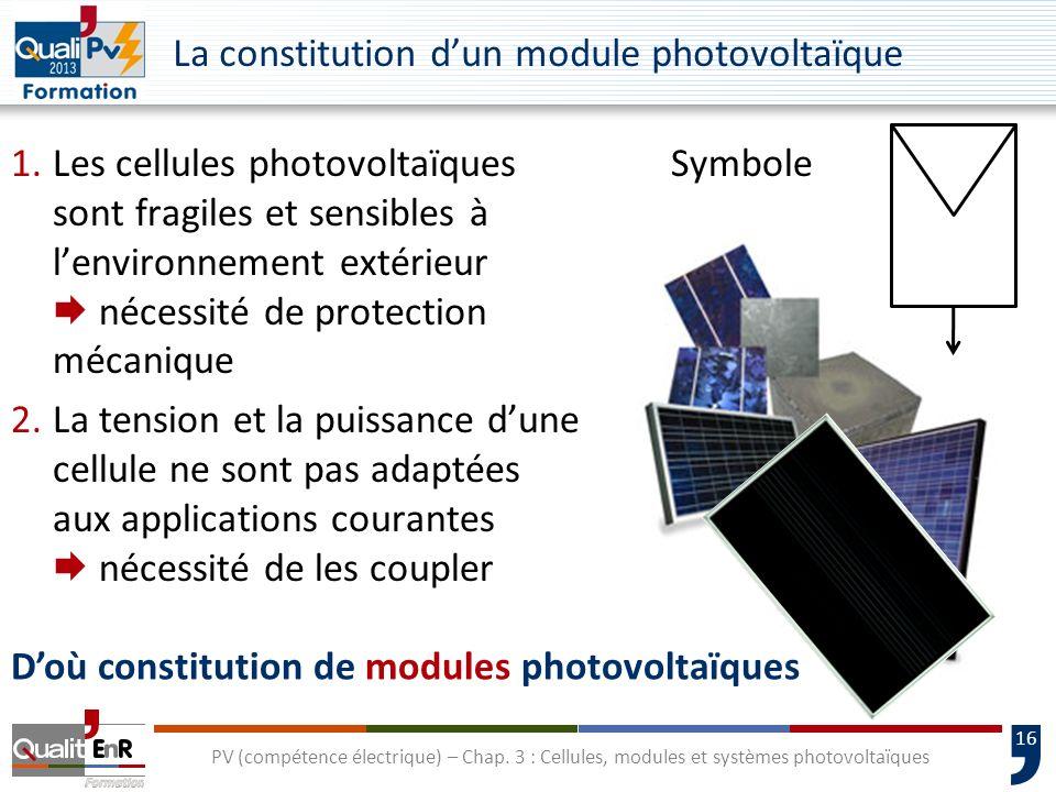 15 PV (compétence électrique) – Chap. 3 : Cellules, modules et systèmes photovoltaïques Différentes tailles de cellules en polycristallin 101 x 101101