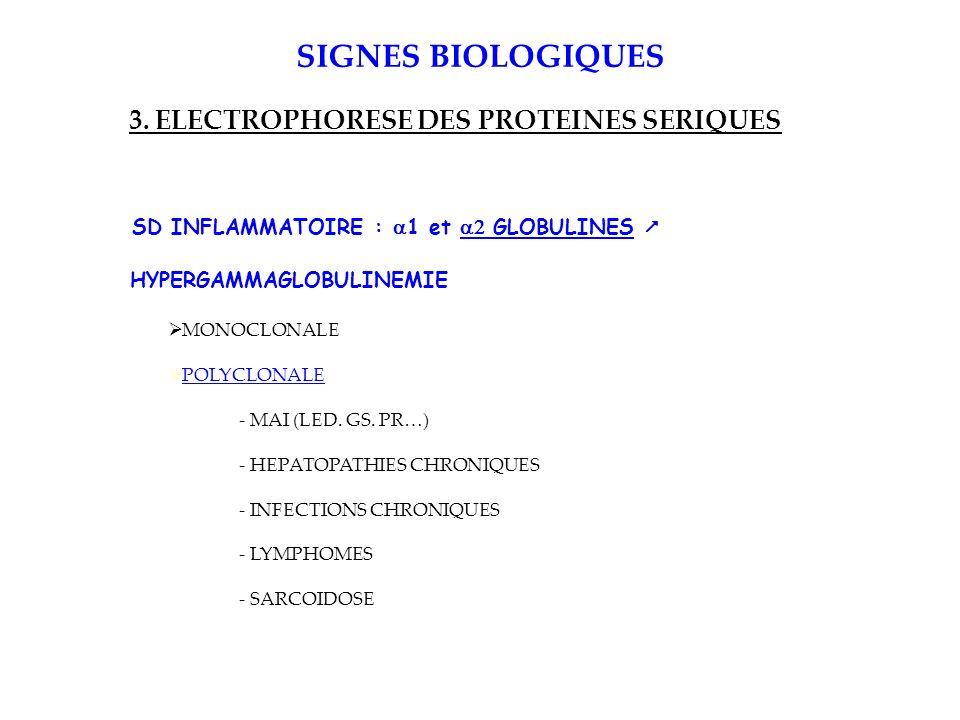 SIGNES BIOLOGIQUES 3.