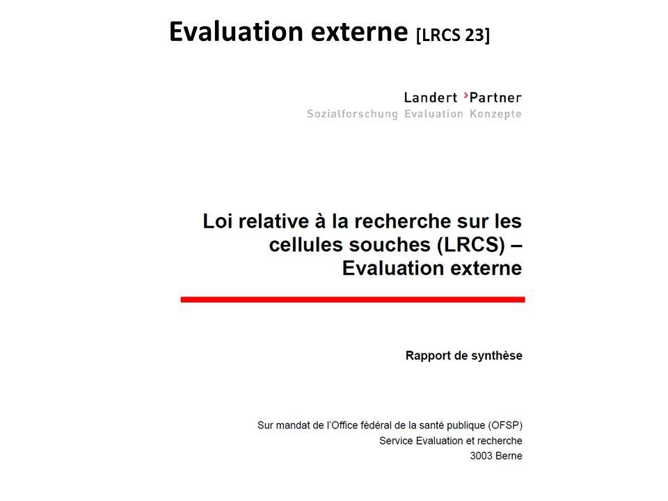 Evaluation externe [LRCS 23]