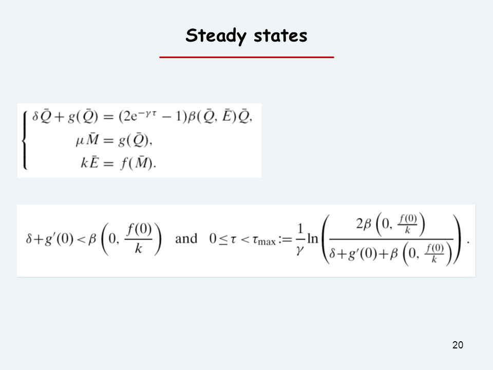 20 Steady states