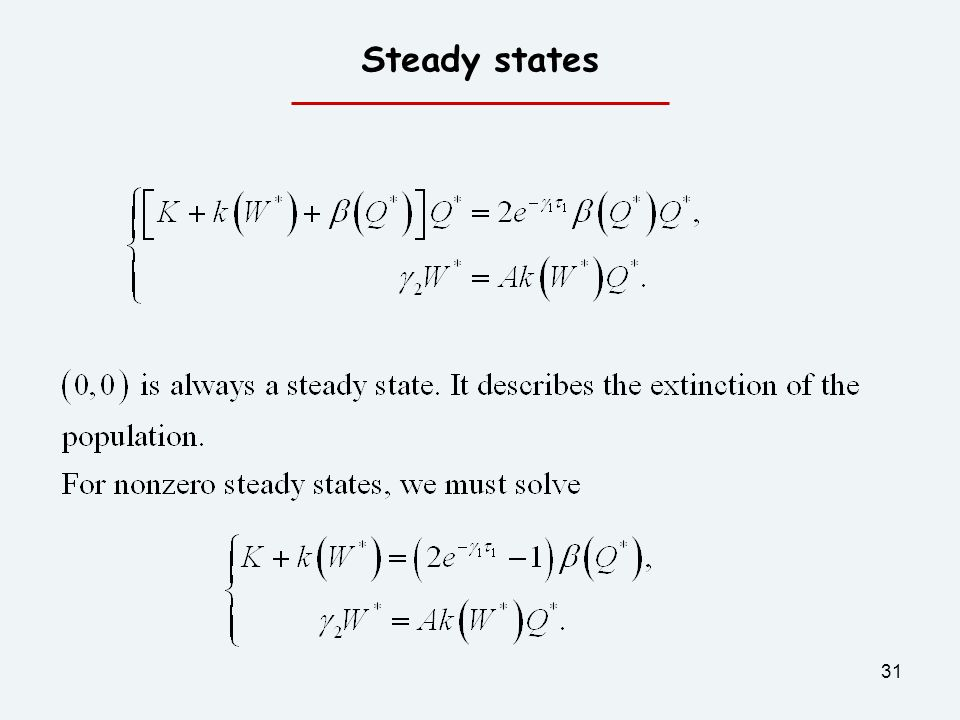 31 Steady states