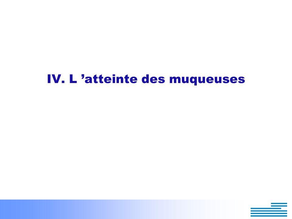 IV. L atteinte des muqueuses 1