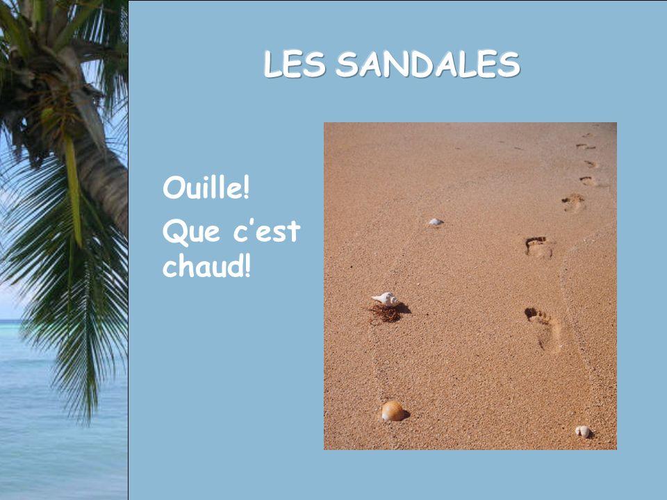 Nous vous demanderons aujourdhui un effort intense… Imaginez-vous sur une plage au sable chaud… sans sandales.