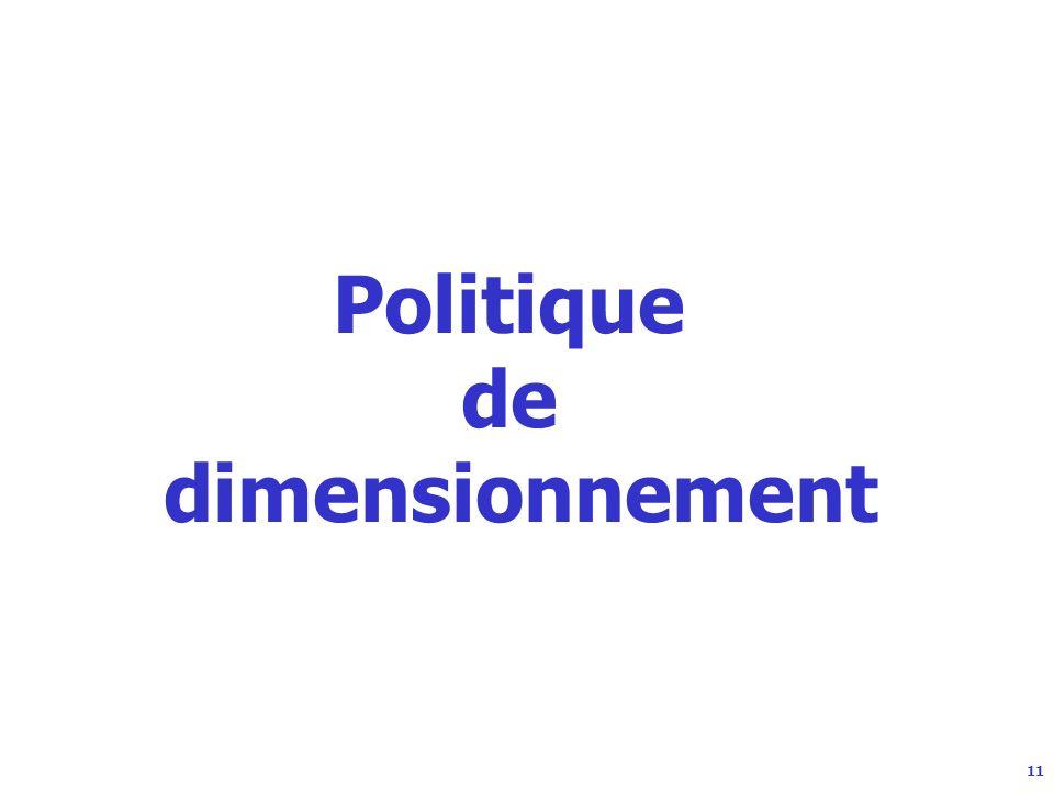11 Politique de dimensionnement