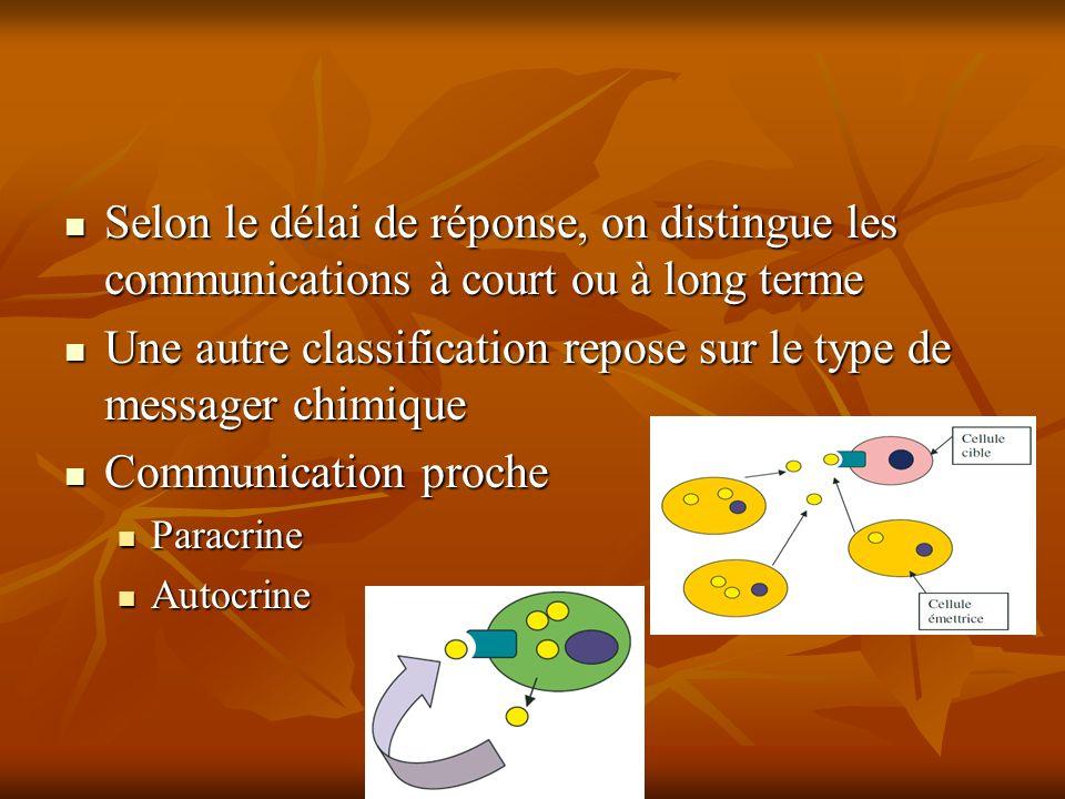Selon le délai de réponse, on distingue les communications à court ou à long terme Selon le délai de réponse, on distingue les communications à court