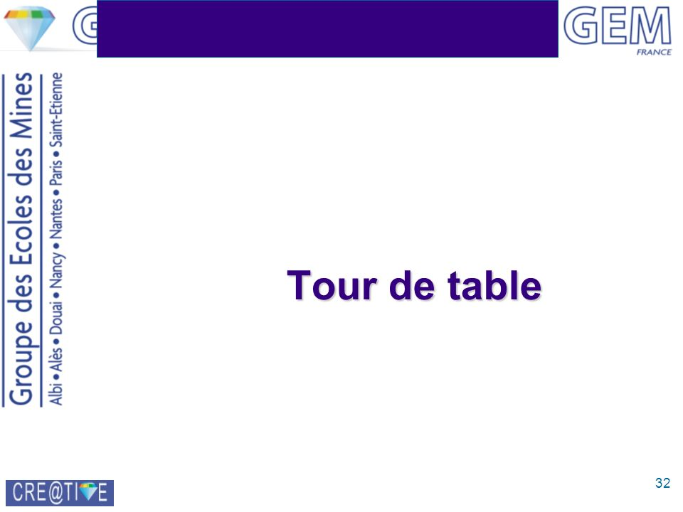 32 Tour de table