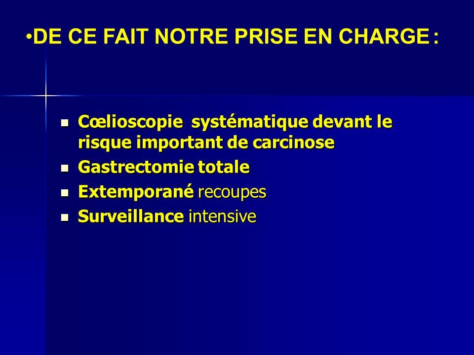 Cœlioscopie systématique devant le risque important de carcinose Cœlioscopie systématique devant le risque important de carcinose Gastrectomie totale