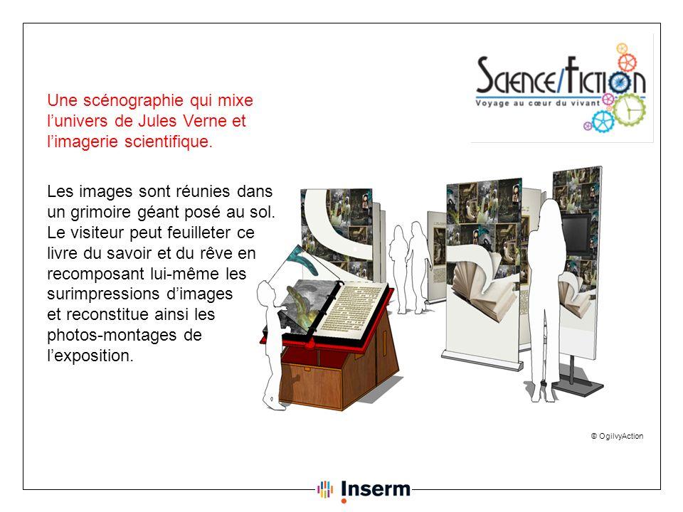 © OgilvyAction Une scénographie qui mixe lunivers de Jules Verne et limagerie scientifique.