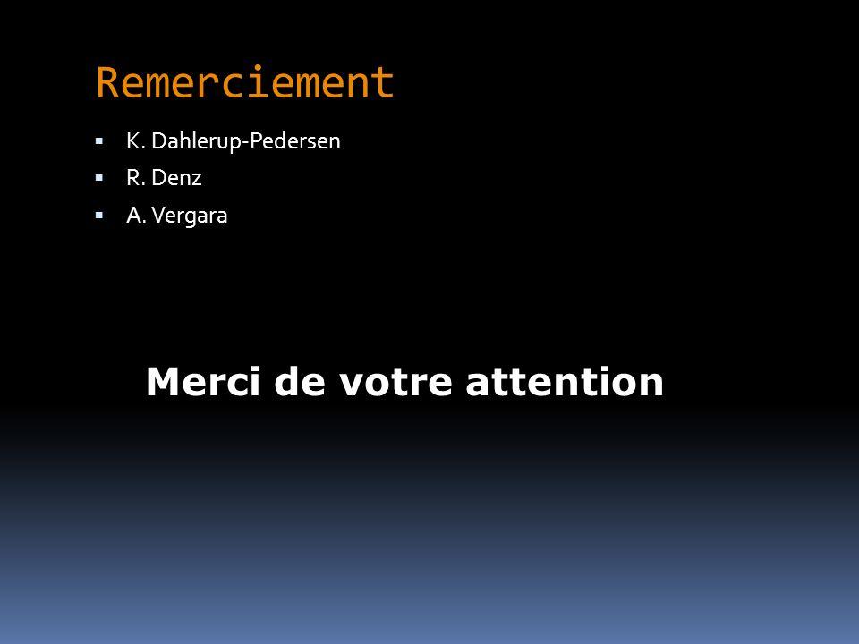 Remerciement K. Dahlerup-Pedersen R. Denz A. Vergara Merci de votre attention