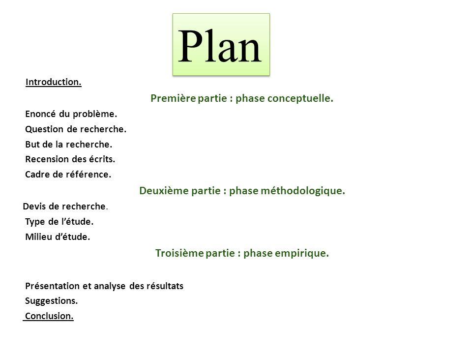 Introduction.Première partie : phase conceptuelle.