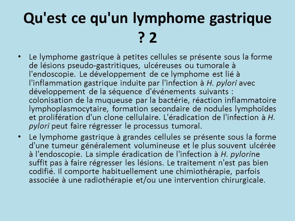 Qu est ce qu un lymphome gastrique .