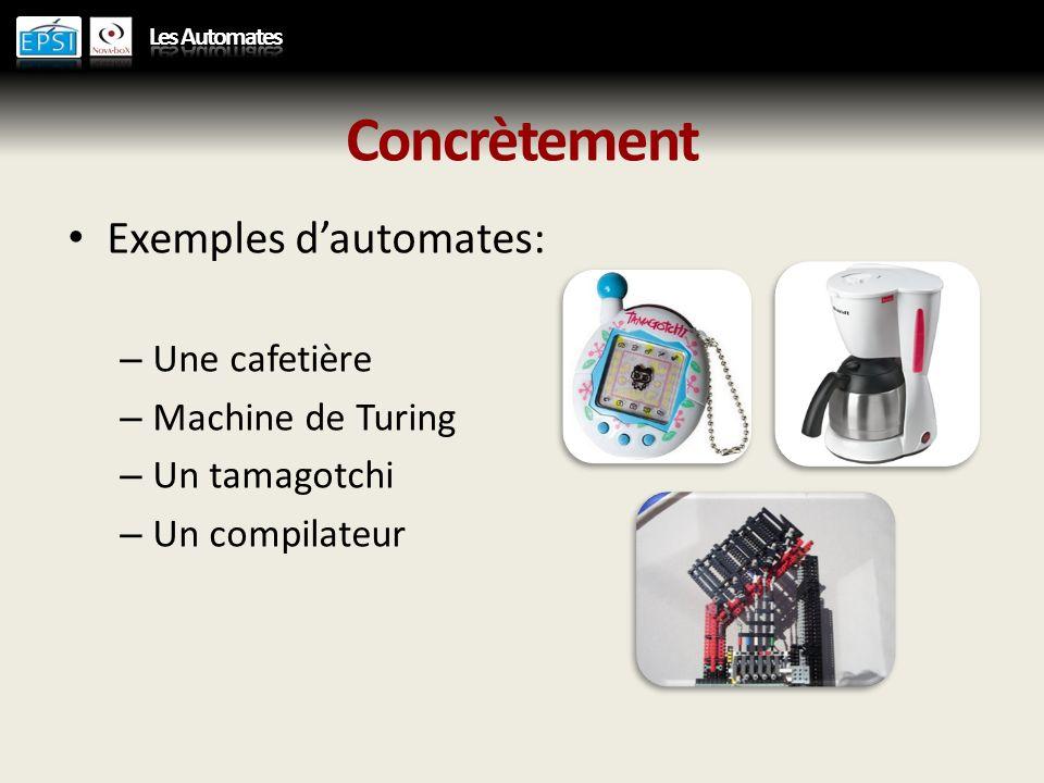 Implémentation Il existe plusieurs façons dimplémenter un automate.