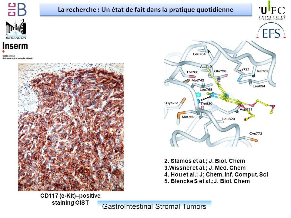 GastroIntestinal Stromal Tumors CD117 (c-Kit)–positive staining GIST 2.