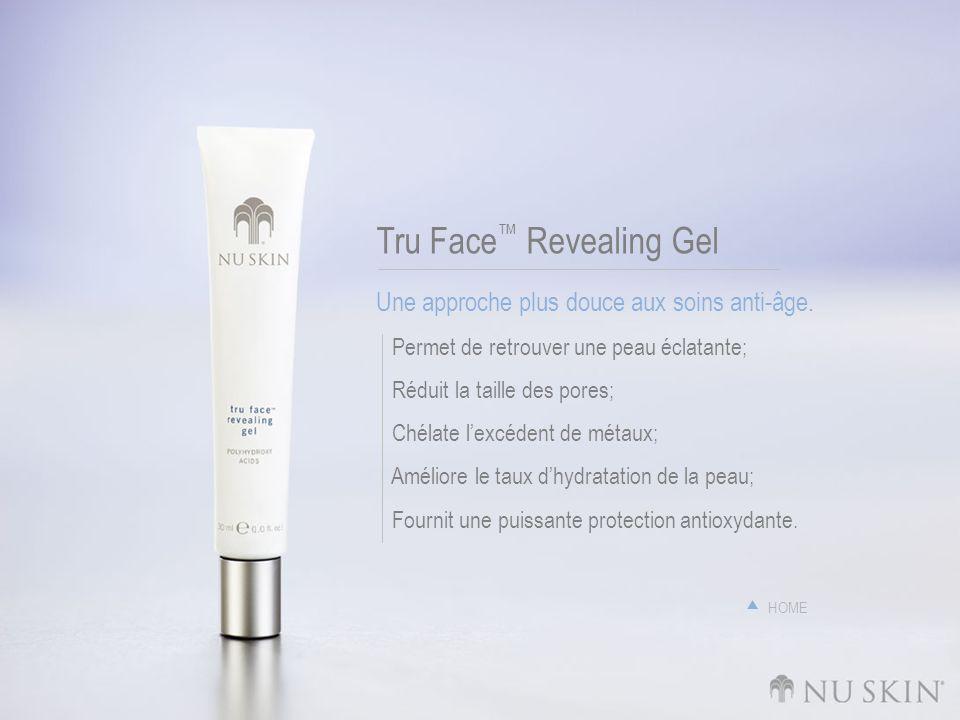 Tru Face Revealing Gel Une approche plus douce aux soins anti-âge. Permet de retrouver une peau éclatante; Réduit la taille des pores; Chélate lexcéde