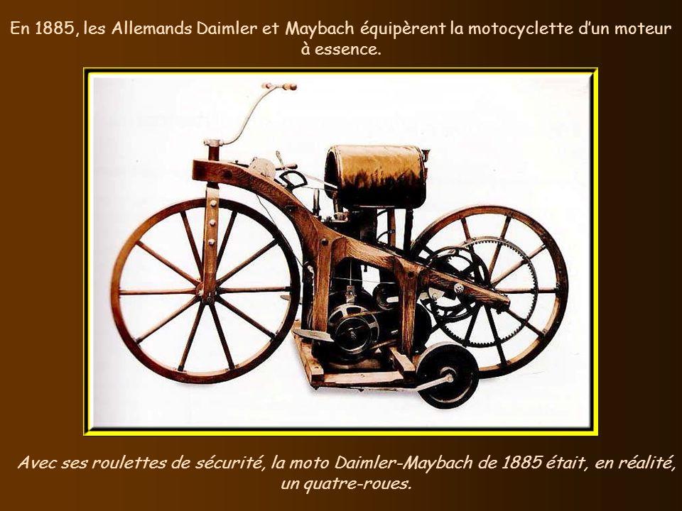 En 1885, John Kemp Starley, britannique, construisit le prototype de la bicyclette moderne. Même dépourvue de freins, la bicyclette était beaucoup plu