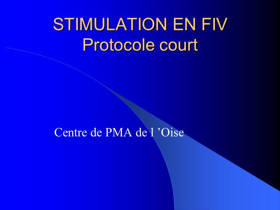 STIMULATION EN FIV Protocole court Centre de PMA de l Oise