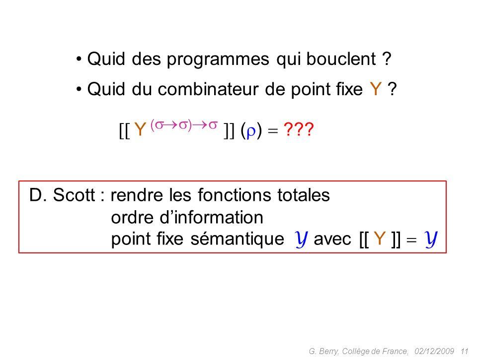 02/12/2009 11G.Berry, Collège de France, Y ( ) ( ) ??.