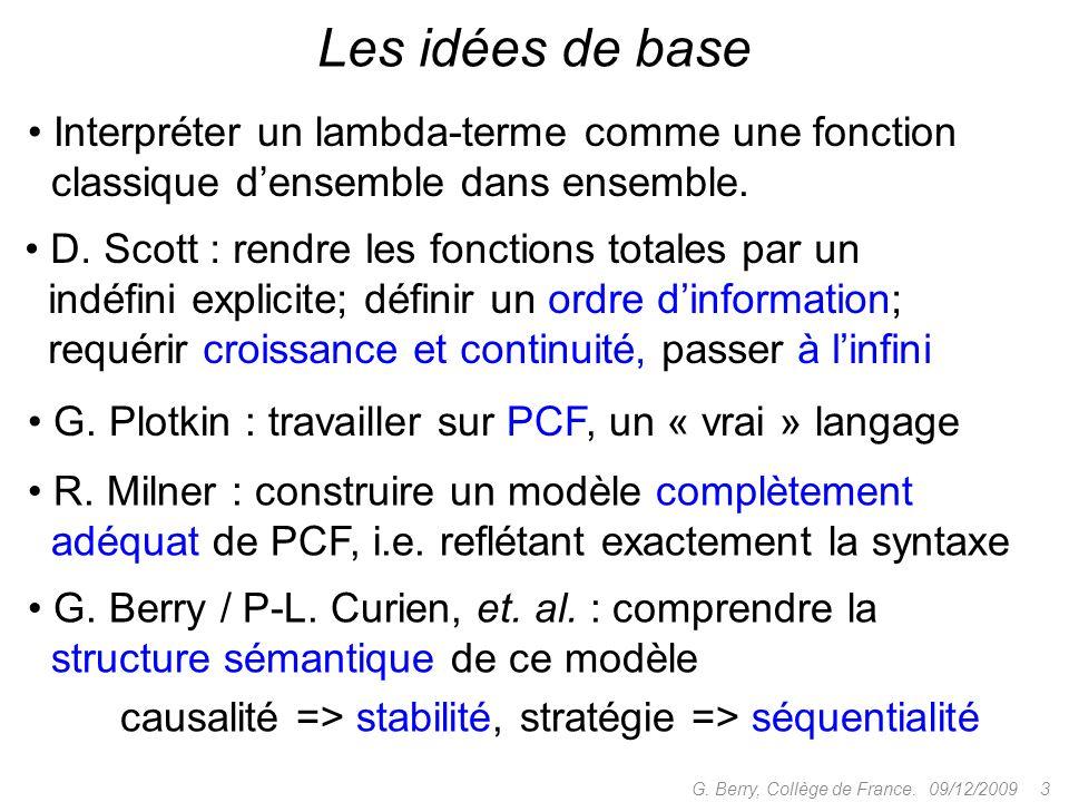 09/12/2009 3G.Berry, Collège de France.