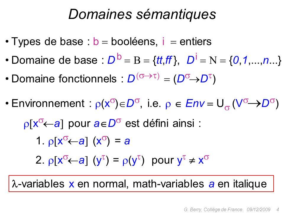 09/12/2009 5G.Berry, Collège de France. Sémantique des termes x ( ) (x ) x.