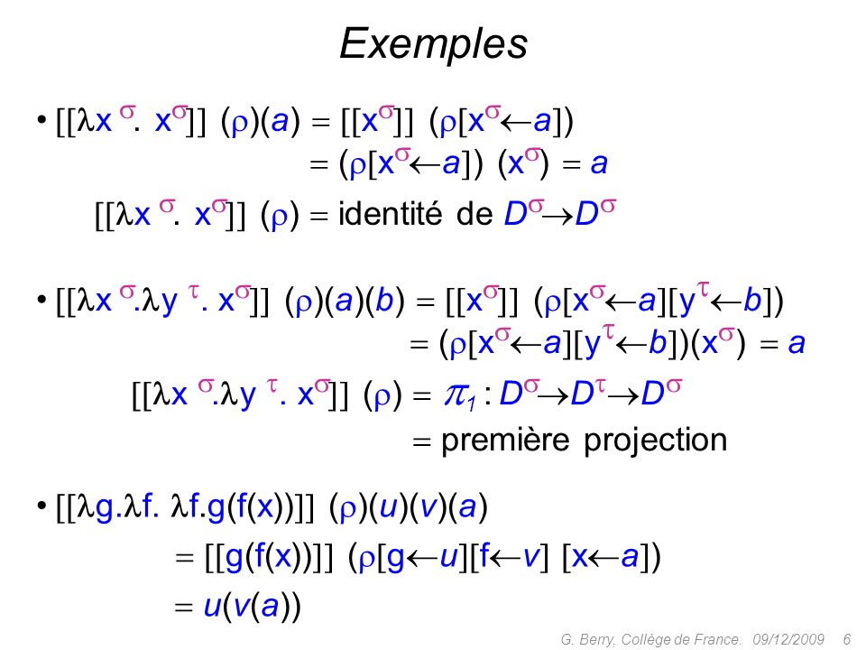 Tristesse (Curien) : le modèle CDS + algorithmes (quotientés) nest pas complètement adéquat pour PCF dexceptions 09/12/2009 37G.