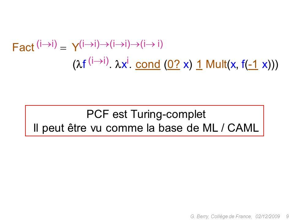 02/12/2009 9G.Berry, Collège de France, Fact (i i) Y (i i) (i i) (i i) ( f (i i).