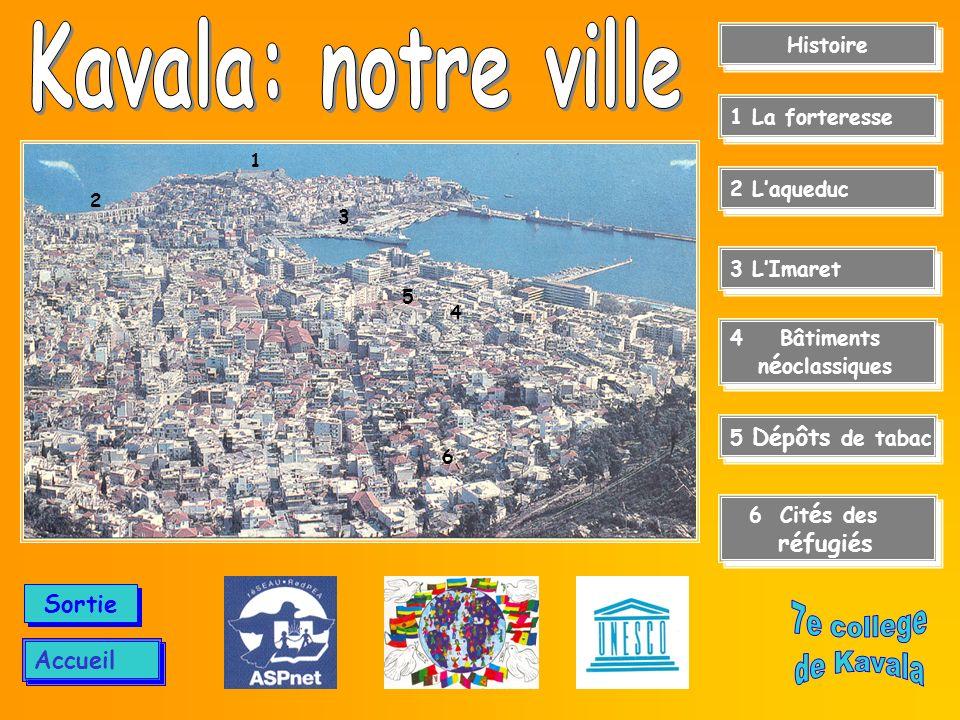 Menu Central Kavala:regards sur le temps Kavala, ville située au flanc du Mont «Simvolo» (Symbole), donne sur une baie pittoresque de la mer Egée du Nord.