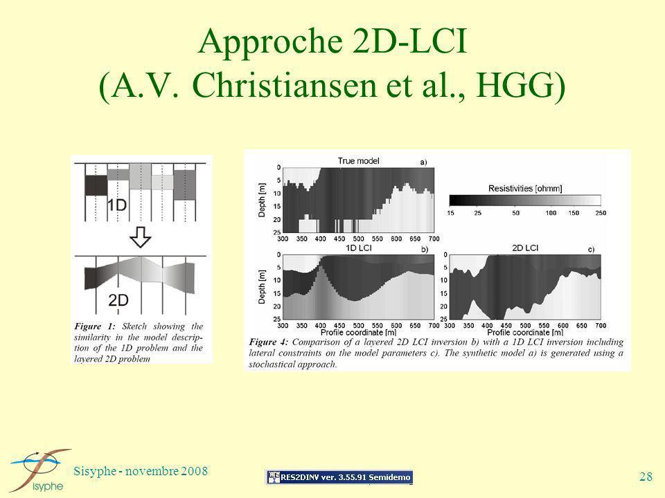 Sisyphe - novembre 2008 28 Approche 2D-LCI (A.V. Christiansen et al., HGG)