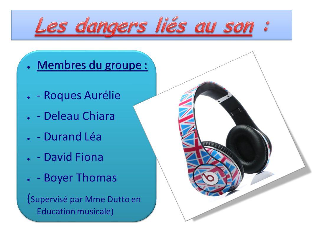Membres du groupe : Membres du groupe : - Roques Aurélie - Deleau Chiara - Durand Léa - David Fiona - Boyer Thomas ( Supervisé par Mme Dutto en Educat