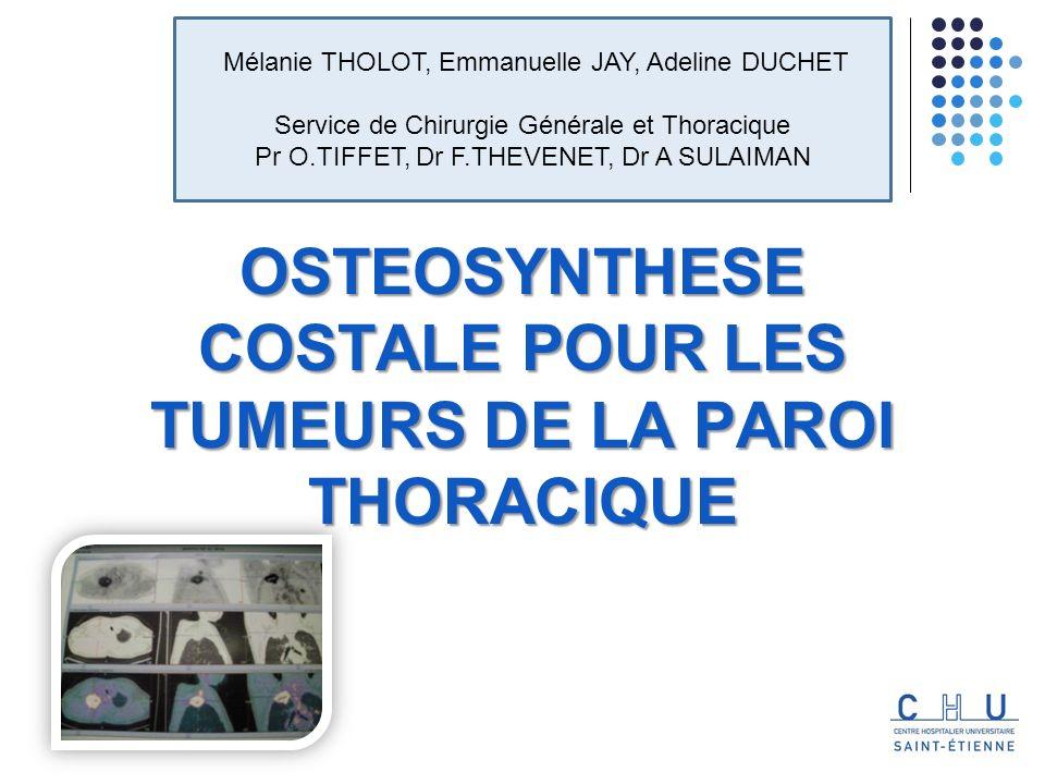 SOMMAIRE I.INTRODUCTION II. PHYSIOPATHOLOGIE & SPECIFICITE DE LA PAROI THORACIQUE III.