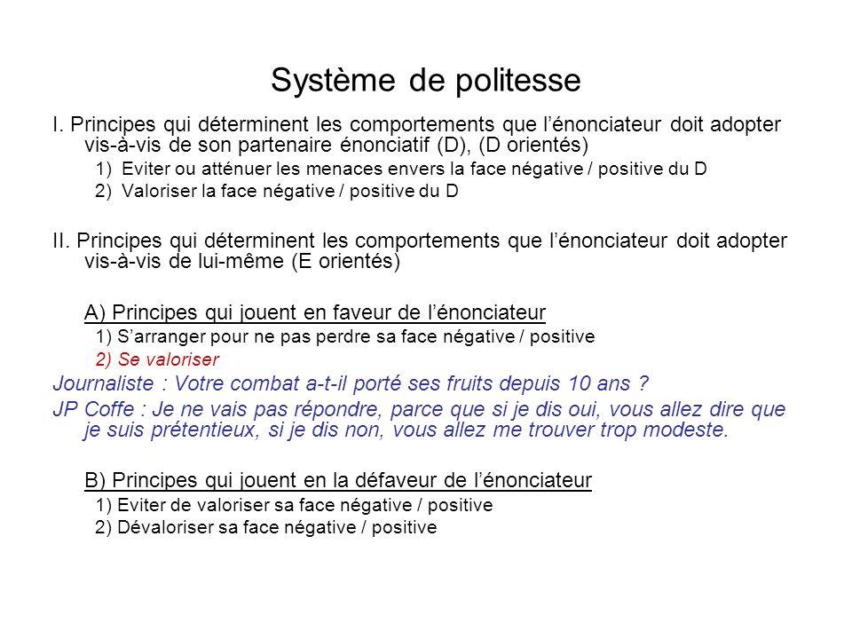 Système de politesse I.