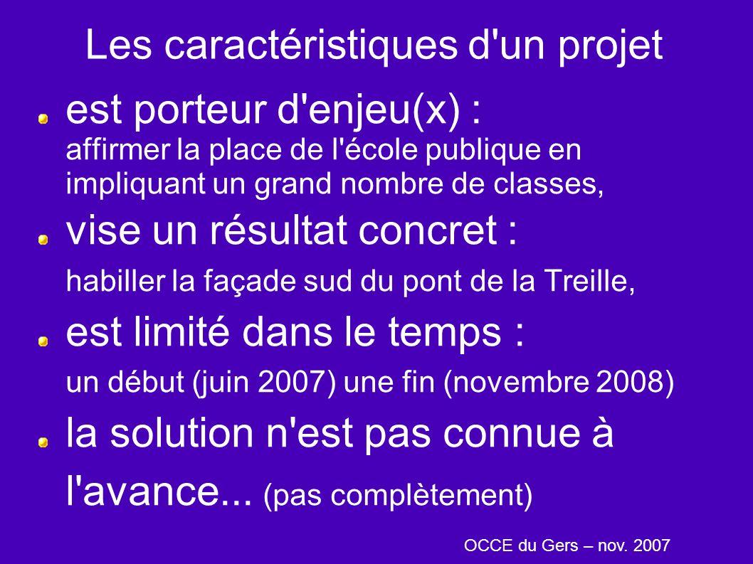 Les caractéristiques d'un projet est porteur d'enjeu(x) : affirmer la place de l'école publique en impliquant un grand nombre de classes, vise un résu