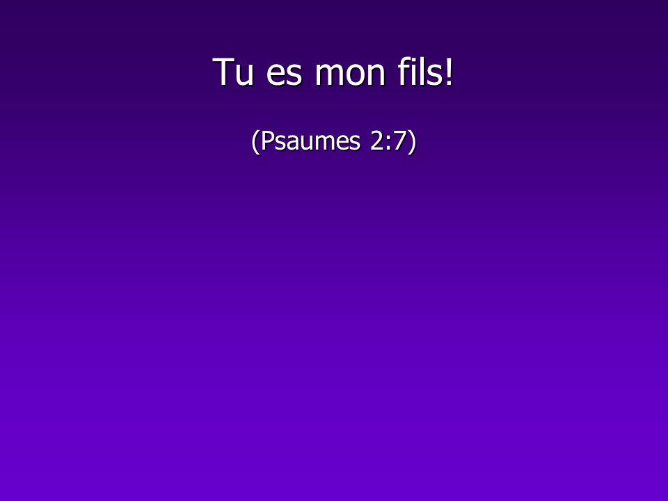 Tu es mon fils! (Psaumes 2:7)