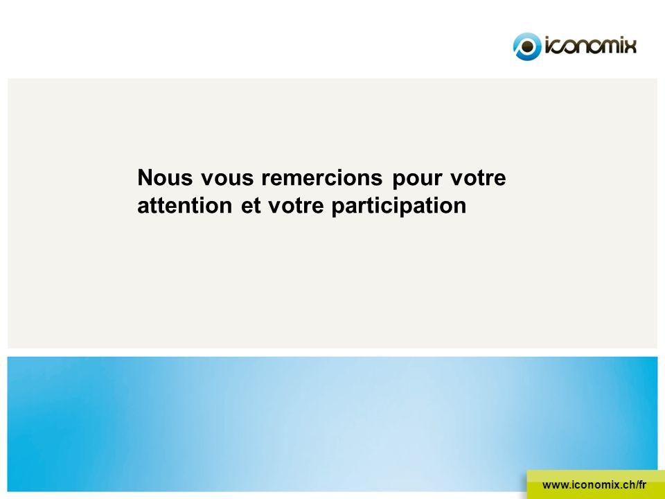 Nous vous remercions pour votre attention et votre participation www.iconomix.ch/fr