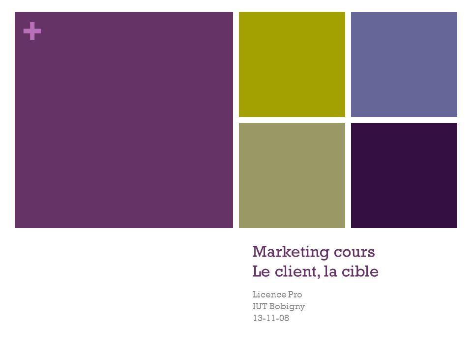 + Marketing cours Le client, la cible Licence Pro IUT Bobigny 13-11-08