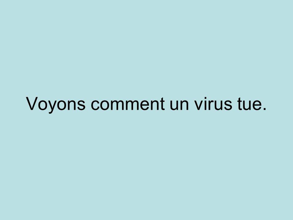 Voyons comment un virus tue.