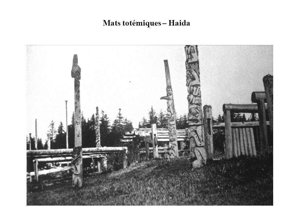 http://www.cabrillo.edu/~crsmith/Haida_vill.gif Les maisons étaient construites avec de grosses planches de cèdre.