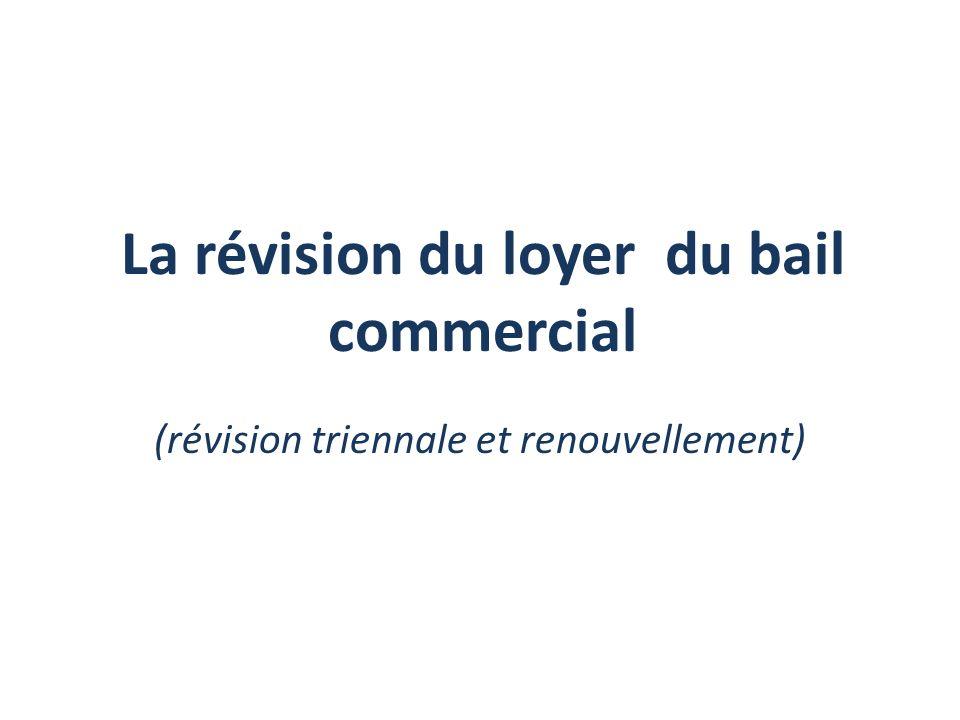 La révision du loyer du bail commercial (révision triennale et renouvellement)