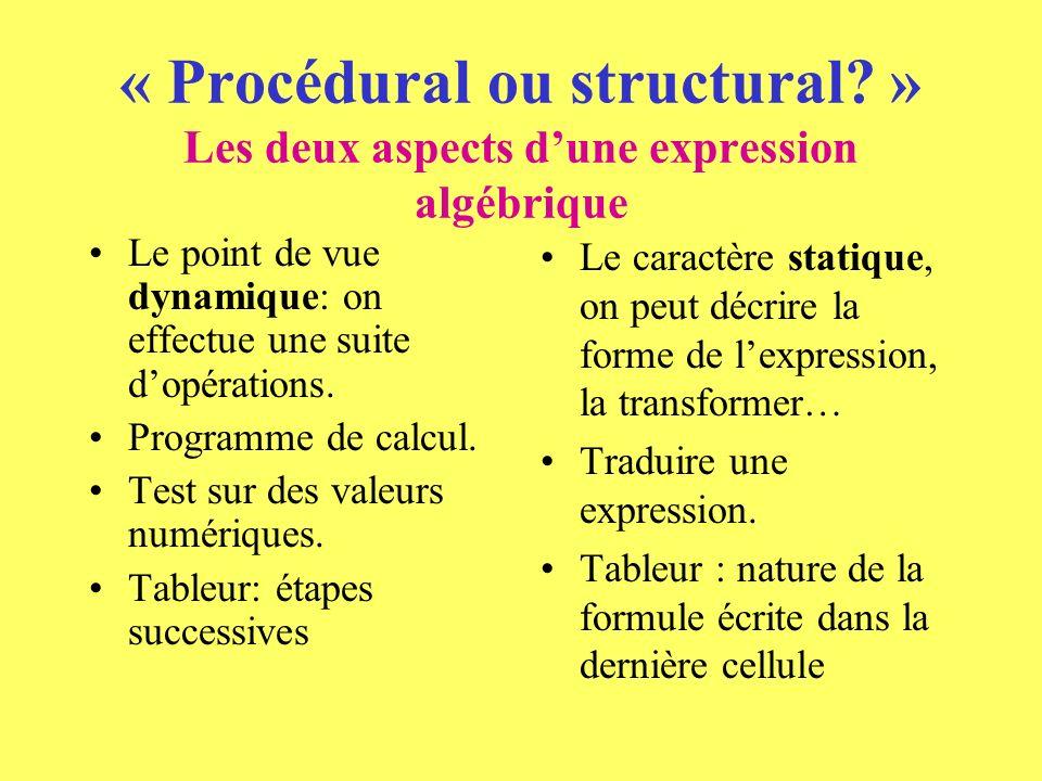 « Procédural ou structural.