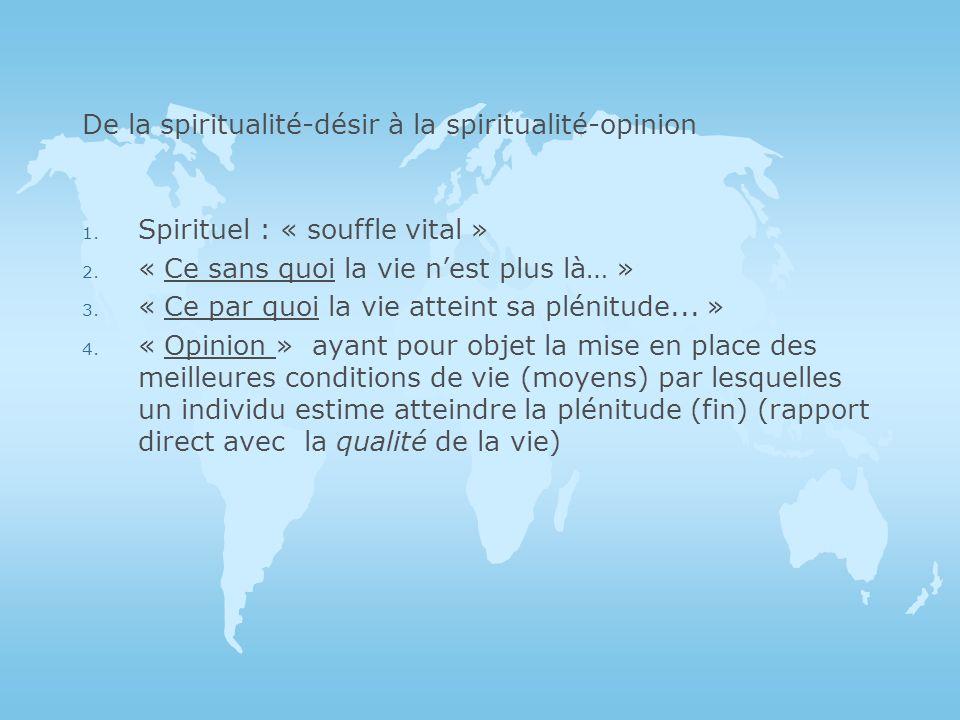 1.Spirituel : « souffle vital » 2. « Ce sans quoi la vie nest plus là… » 3.