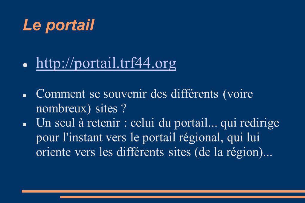 Le portail http://portail.trf44.org Comment se souvenir des différents (voire nombreux) sites .