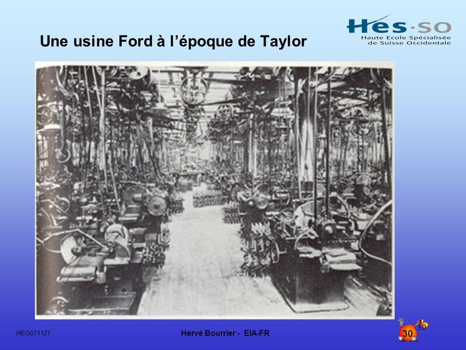 Hervé Bourrier - EIA-FR 30 HEG071127 30 Une usine Ford à lépoque de Taylor